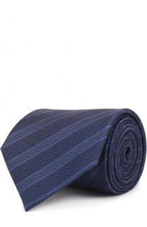 Шелковый галстук в полоску Giorgio Armani