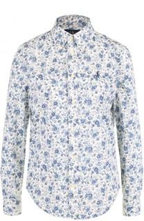 Блуза прямого кроя с цветочным принтом Polo Ralph Lauren