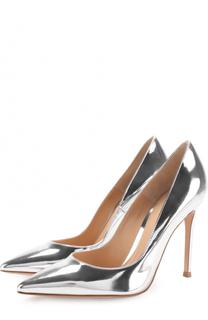 Туфли Gianvito 105 из металлизированной кожи на шпильке Gianvito Rossi