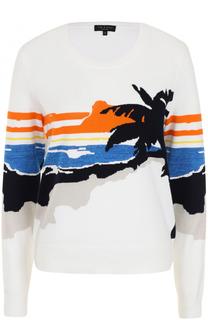 Пуловер прямого кроя с принтом Rag&Bone Rag&Bone