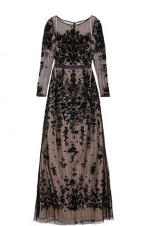 Приталенное платье-макси без рукавов с вышивкой Basix Black Label