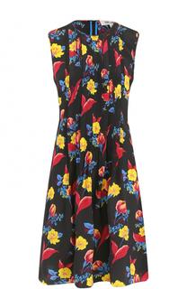 Шелковое мини-платье с принтом Diane Von Furstenberg