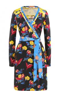 Шелковое платье с запахом и принтом Diane Von Furstenberg