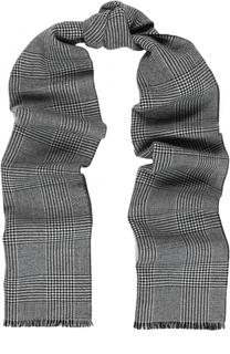 Шерстяной шарф в клетку Alexander McQueen