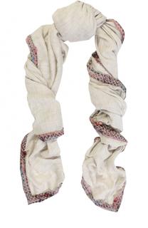 Платок из смеси шерсти и модала с обработанным краем 813 Ottotredici Annalisa Giuntini