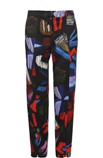 Укороченные брюки прямого кроя с ярким принтом Armani Collezioni