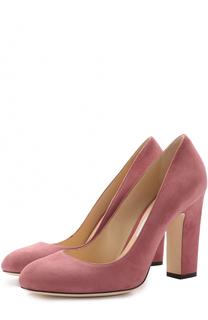 Замшевые туфли Bille 100 на устойчивом каблуке Jimmy Choo