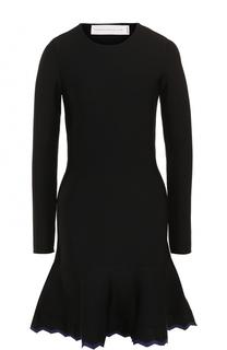 Приталенное мини-платье с длинным рукавом Victoria by Victoria Beckham