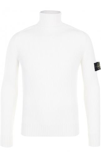 Шерстяной свитер с воротником-стойкой Stone Island