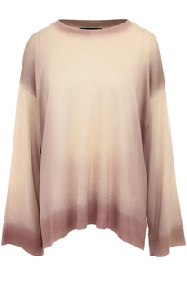 Кашемировый пуловер свободного кроя с круглым вырезом The Row