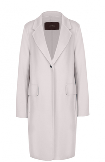 Шерстяное пальто прямого кроя с карманами Windsor