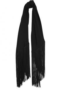 Шелковый шарф с бахромой Diane Von Furstenberg