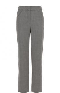 Шерстяные брюки прямого кроя с карманами Giorgio Armani