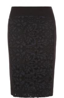 Кружевная юбка-карандаш с разрезом Diane Von Furstenberg