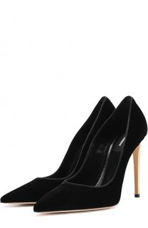 Бархатные туфли на шпильке Dsquared2