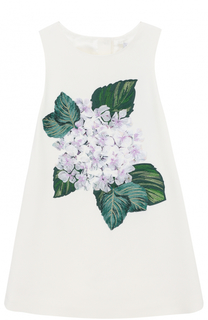 Комплект из платья с цветочной аппликацией и трусов Dolce & Gabbana