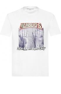 Хлопковая футболка с принтом Stella McCartney
