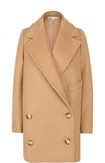 Двубортное пальто прямого кроя с широкими лацканами Stella McCartney