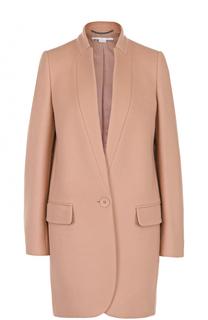 Пальто прямого кроя на одной пуговице с карманами Stella McCartney