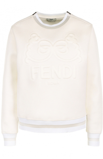 Свитшот прямого кроя с фактурной отделкой Fendi