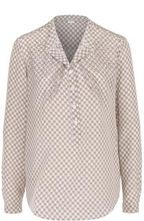 Шелковая блуза прямого кроя с принтом Stella McCartney