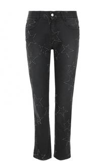 Укороченные джинсы прямого кроя со звездами Stella McCartney