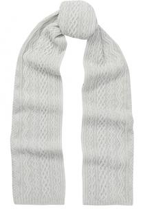 Кашемировый шарф с фактурной вязкой Johnstons Of Elgin