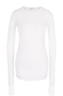Облегающий пуловер фактурной вязки Helmut Lang