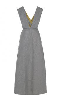 Приталенное платье-макси в полоску Walk of Shame