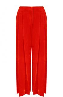 Укороченные бархатные брюки с защипами Raquel Allegra
