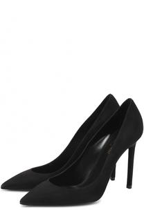 Замшевые туфли Anja на шпильке Saint Laurent