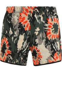 Мини-шорты с цветочным принтом Raquel Allegra