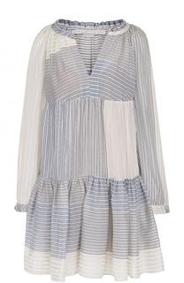 Мини-платье свободного кроя с V-образным вырезом Stella McCartney