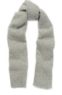 Вязаный шарф из кашемира с металлизированной нитью Johnstons Of Elgin