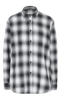 Блуза свободного кроя в клетку Mm6