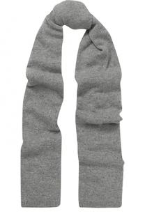 Вязаный шарф из смеси кашемира и шелка с пайетками Johnstons Of Elgin