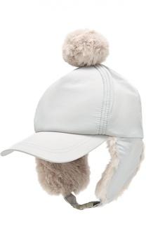 Утепленная кепка с помпоном Stella McCartney