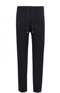 Хлопковые брюки прямого кроя с поясом на резинке Dolce & Gabbana
