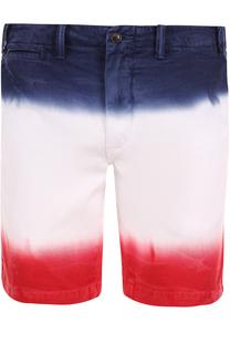 Хлопковые шорты с эффектом деграде Polo Ralph Lauren