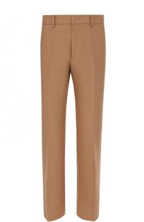 Хлопковые укороченные брюки прямого кроя No. 21