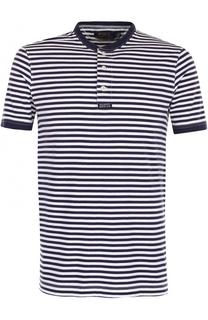 Хлопковая футболка хенли в контрастную полоску Polo Ralph Lauren