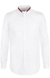 Хлопковая сорочка с контрастной отделкой Givenchy