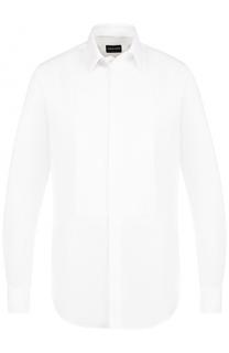 Хлопковая сорочка под смокинг Giorgio Armani