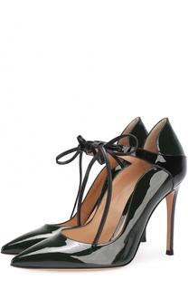 Лаковые туфли на шнуровке Gianvito Rossi