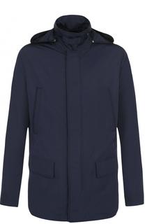 Куртка на молнии с капюшоном HUGO