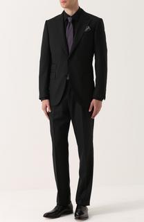 Шерстяной костюм с пиджаком на двух пуговицах Ermenegildo Zegna