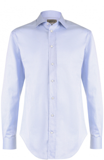 Хлопковая сорочка с воротником кент Armani Collezioni
