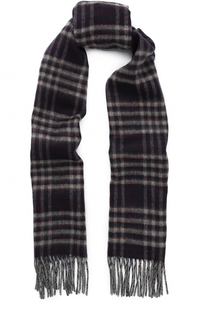Кашемировый шарф с бахромой Johnstons Of Elgin