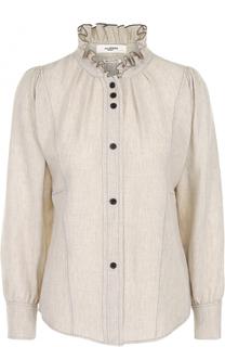 Блуза с защипами и воротником-стойкой Isabel Marant Etoile