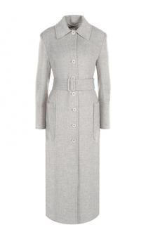Удлиненное однобортное пальто с поясом Helmut Lang